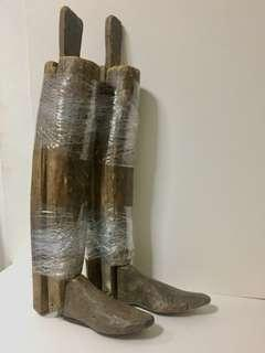 RARE WW1 1915 Italian Army Military Officers Boots Trees.