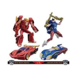 Street Fighter II Transformers Ken Vs Chun-Li