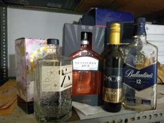 Botol Liquor untuk pajangan