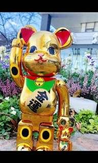 BEARBRICK manekineko Gold Platted 6