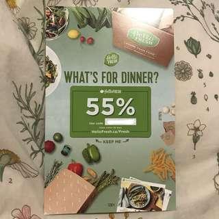 55% Off Hello Fresh Meal Plan