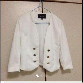 $49.95 Elegant White Blazer With Gold Buttons ( Brand New)