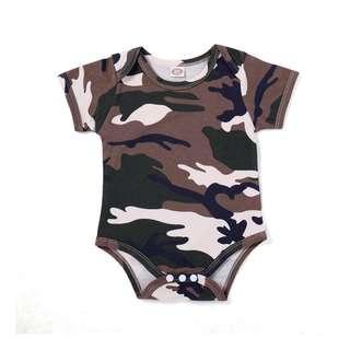 🚚 ✔️STOCK - ARMY BROWN CAMOUFLAGE PRINT OVERALL ONESIE UNISEX NEWBORN BABY TODDLER BOYS/GIRLS ROMPER KIDS CHILDREN CLOTHING