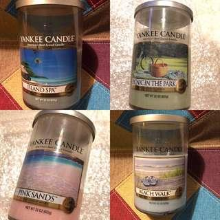 Yankee Candle - bundle of 4 large tumblers