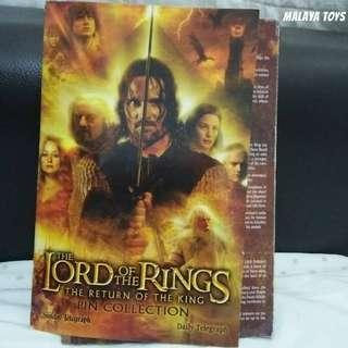 Lord Of The Rings : Return Of The Kings 18 Pins Rare Collection