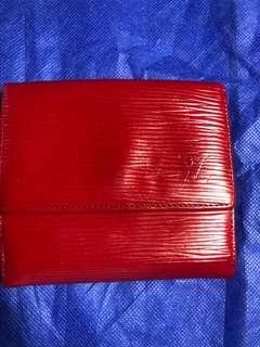 Louis Vuitton EPI bifold leather wallet