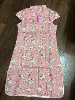 BN Girl's Cheongsam - Pink Floral