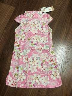 BN Girls' Cheongsam in 100/110 - Baby Pink Floral