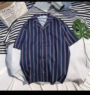 ⚡️SALE⚡️NAVY BLUE STRIPE SHIRT