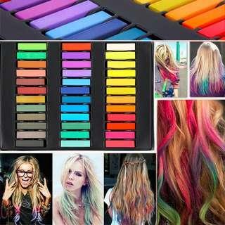 Chalk hair color - masters pastel 24 colours