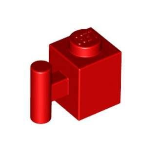 Lego Brick 1x1 with Handle Red 1pc