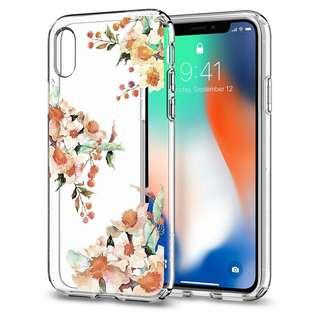 [BNIB] Spigen iPhone X Liquid Crystal Aquarelle Primrose