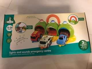 ELC lights and sounds emergency centre magnetic vehicles handle 12-36mths