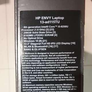 HP ENVY Laptop. Model: 13-ad115TU