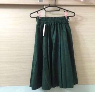 🚚 🎆限時促銷➕全新綠色質感中長裙#衣櫃大掃除