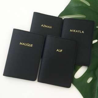 Modern minimalist style personalised passport cover custom passport holder personalised gift travel Organizer gift Valentine gift family travel couple gift set