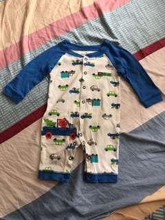 Jumping Bears 3-6 Months Baby Onesie  連體衣 夾衣