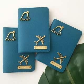 Personalised Passport Holder custom passport cover personalised gift family travel Organizer couple gift set Valentine gift