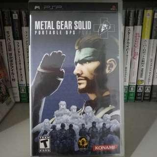 PSP - Metal Gear Solid Portable Ops Plus