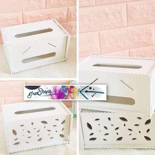 Tempat tissue kotak cover box storage perlengkapan rumah pesta kantor home decoration dekorasi party office shabbychic vintage dapur kitchen