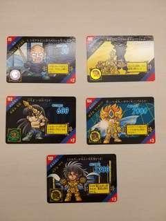 絕版 聖鬥士星矢 日版 白卡