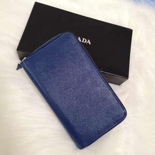 ON HAND: Authentic Prada Saffiano Double Zip Wallet /Card Organizer