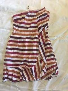Cali Stripy red dress size 10