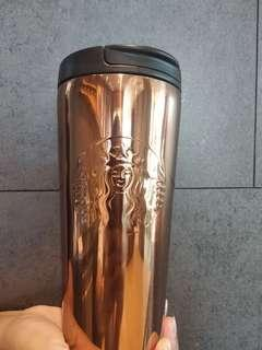 Starbucks Etched Gold