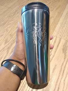 Starbucks Etched Silver
