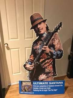 Stand up cut out of Santana. Great for man cave music room. Good condition. Comes with Santana CD.  $100 for both items. Height of cut out 150cm.