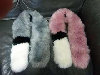 New, Fur scraf 頸巾