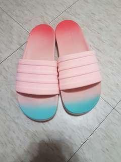 🚚 Adidas ADILETTE CF+ FADE 女鞋 粉色 渲染 棉花糖 漸層 軟底 拖鞋 S82063 大尺碼