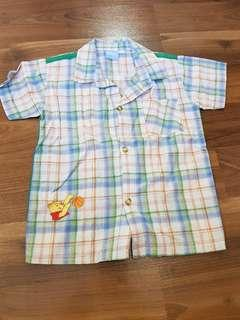 Pooh Plaid Polo for Toddlers