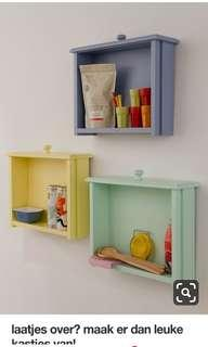 Draw wall shelves