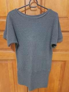 Grey Knit Top #APR75
