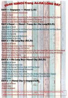 5 day Hanoi/halong bay/Truang Ann