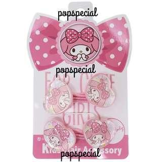 Made in Japan My Melody Rubber Band Hair Tie 2 PCS Set