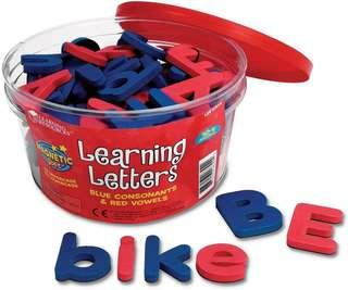 *Brand New* Learning Resources Magnetic Learning Alphabet Letters - Uppercase + Lowercase Educational Tools for Homeschooling (Great for Literacy Learning) Tot / Home School Teaching Resources ABC Magnet