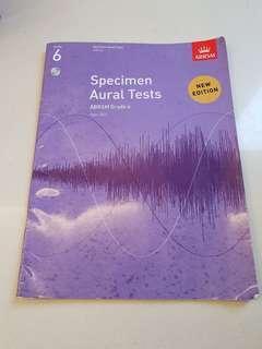 Grade 6 Specimen Aural Tests (With CD)