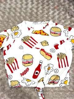 Foodie tie shirt