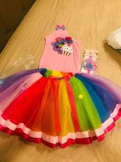 Rainbow candy top and Tutu