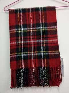 日本 E hyphen 紅格子圍巾