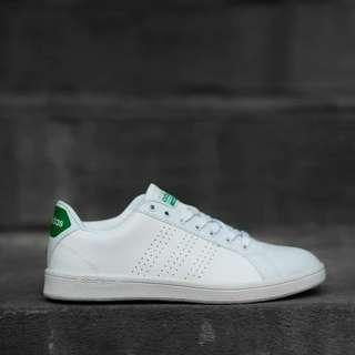 Adidas Original Cloudfoam Advantage White Green