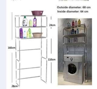 Washing Machine Shelves Bathroom Toilet Shelves Bathroom Shelves Kitchen Organizing Storage Shelves - Intl