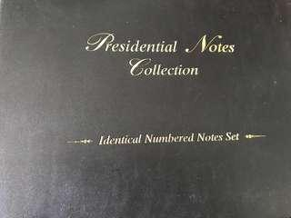 Singapore President note collection identical number set