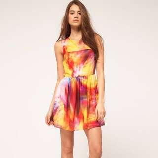 🚚 ASOS Chiffon Multicolour Dress