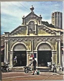 Canvas photo - Campbell Street wet market, Penang