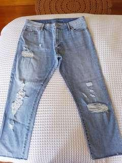 Articles of Society Distressed Girlfriend Mom Denim Jeans sz 10 28