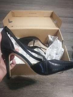 nine west leather strap heels