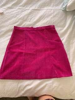 Quirky Circus corduroy pink skirt
